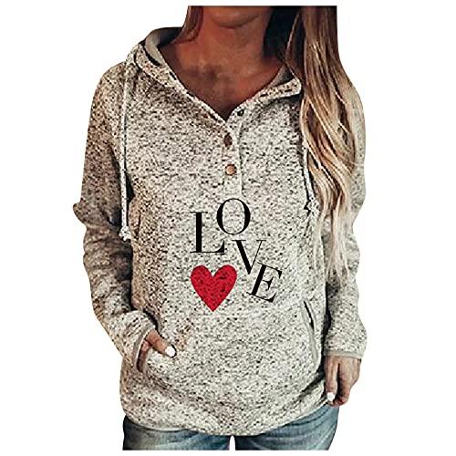 Dasongff - Sudadera con capucha para mujer, estilo informal, con bolsillo con cordón, chaqueta, abrigo, manga larga, cordón, jersey deportivo para mujer