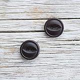 【丸型キャッツアイ(猫目)】ナットボタン #ONT08H 2穴 10mm C/#48 ブラウン 10個セット