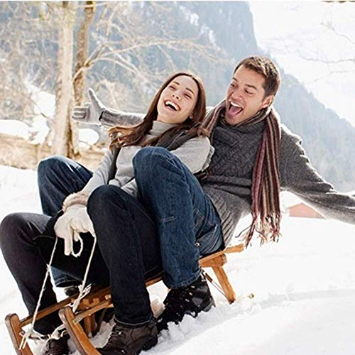 Wooden Sled, Flexible Flyer Premium Sled, Can Hold 220 Pounds, Easy to Clean, Made of Environmentally Friendly Laminated Beech Wood, Suitable for Snow