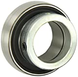 """SKF YET 206-104 Ball Bearing Insert, Double Sealed, Eccentric Collar, Regreasable, Steel, 1-1/4"""" Bore, 62 mm OD , 18 mm Outer Ring Width, 3380.00 pounds Dynamic Load Capacity"""
