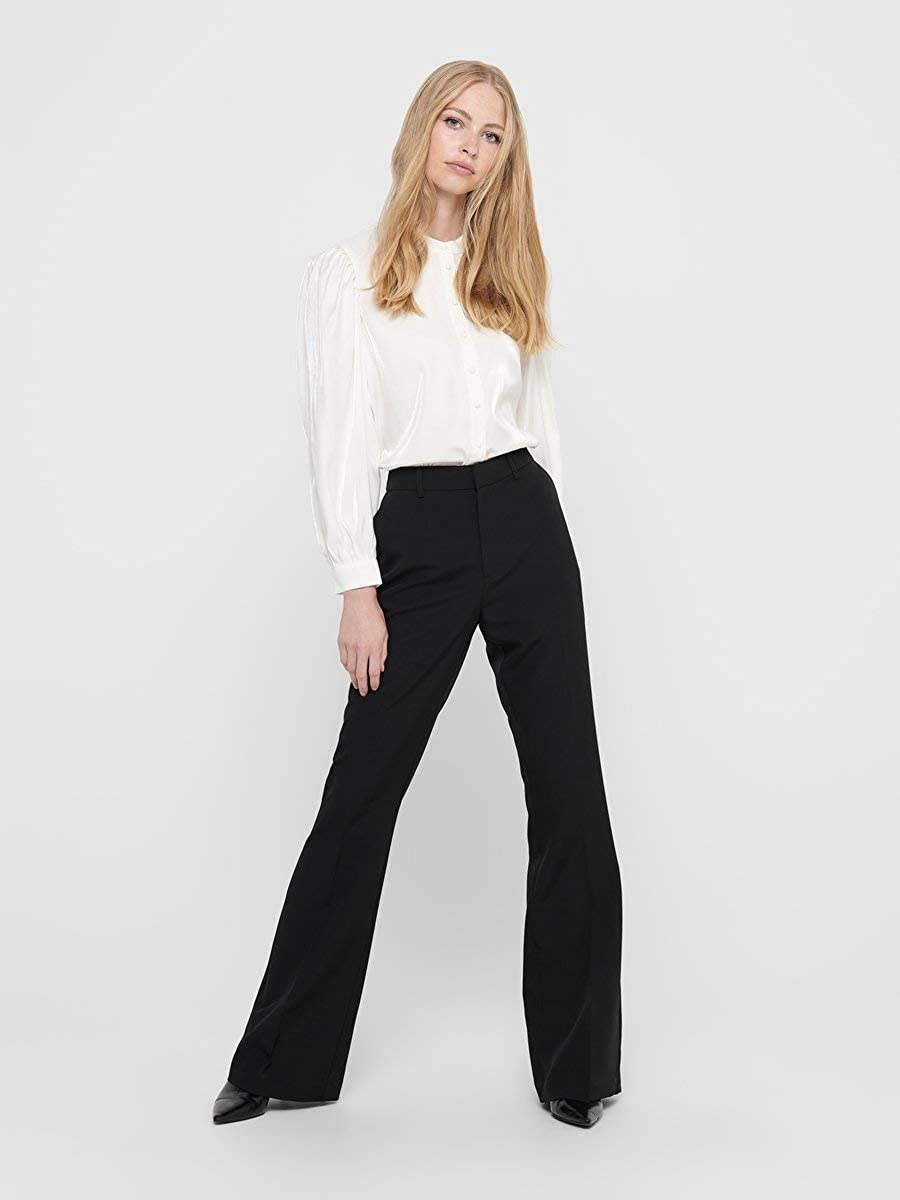 Only Onlcharming HW Flare Pant Pnt Noos Pantaloni Donna