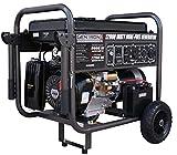 Gentron Power Equipment Electric Start Dual Fuel Portable Generator 10,000-Watt - 12,000-Watt Black, Grey (12,000-Watt Dual Fuel)