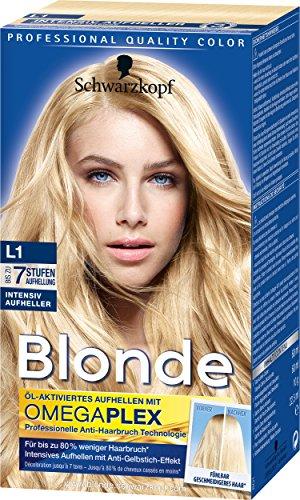 Schwarzkopf Blonde Aufheller L1 Intensiv Haarentfärber, Stufe 3, 3er Pack (3 x 155 ml)