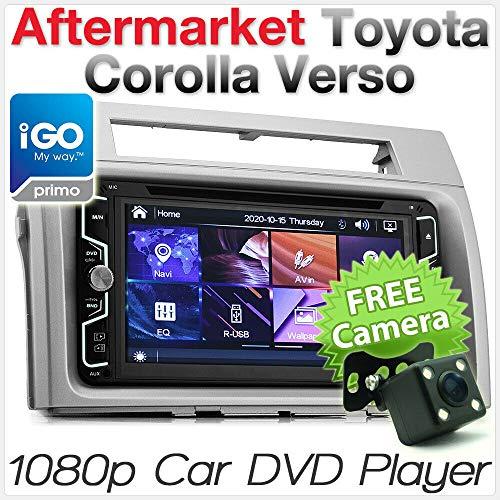 tunez 7'GPS per auto DVD Player Head Radio Radio Stereo USB per Toyota Corolla Verso