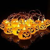 Jingyukj Striscia LED,Decorazioni halloween,Strisce LED,Lanterna zucca,striscia led 3metri 20pcs Lanterna di zucca,Halloween Luci Colorate per Decorazioni,Cucina,Bar,Festa zucca decorativa Luci LED