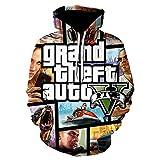 Grand Theft Auto Game GTA 5 Game Hoodies Harajuku 3D Print Hoodie Funny Anime Sweatshirt Design Pullover Camisetas-We-531_Size_L