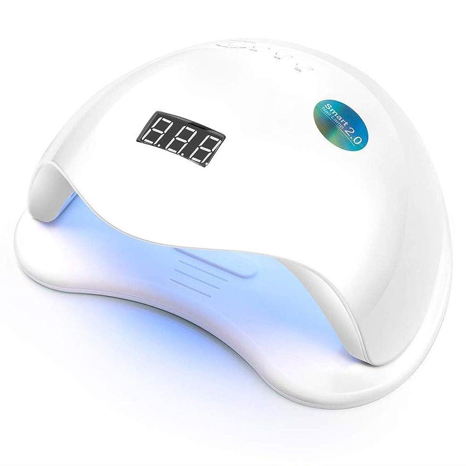 精神無駄壁紙UV LEDネイルランプライトドライヤー、ジェルネイルポリッシュ硬化プロフェッショナルビッグサイズ48ワット用ネイルドライヤー硬化ランプ