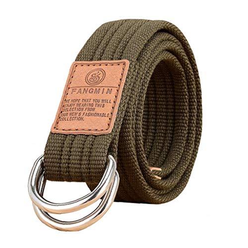 Leinwand Gürtel Military Style Doppel-d-ring-schnalle Beiläufige Breath Webgürtel Für Unisex