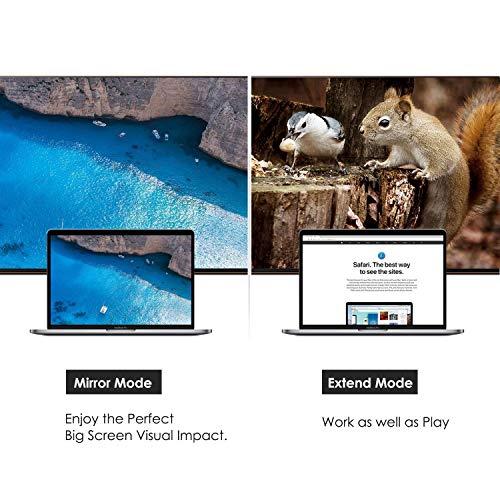USB C auf HDMI, CableCreation Typ C zu HDMI 4K Hub Adapter (DP Alt Mode), Stecker auf Buchse,Kompatibel mit Macbook (Pro) 2017, Chromebook Pixel, Dell XPS 13, Huawei Mate 10 P20 P30, Samsung S8, S8 Plus, Schwarz,10cm