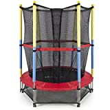 Best Choice Products 55' Round Kids Mini Trampoline w/ Enclosure Net Pad Rebounder Outdoor Exercise