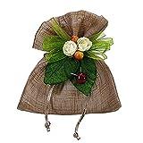 stefanazzi 20 pezzi bomboniere fai da te set sacchetto tipo lino con decorazione per regalo bomboniere porta confetti battesimo comunione cresima matrimonio anniversario compleanni festa gioielli