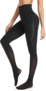 Control Top Pantyhose Opaque Tights for Women Run Resistant Stretch Footed Tight