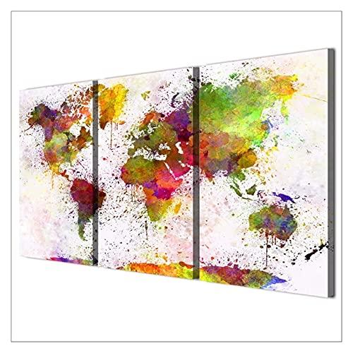 Lienzo de 3 piezas para pared de sala de estar, 3 paneles, arte de pared, decoración de pared, regalo de cumpleaños, diseño abstracto (tamaño: 50 x 70 x 3 piezas)