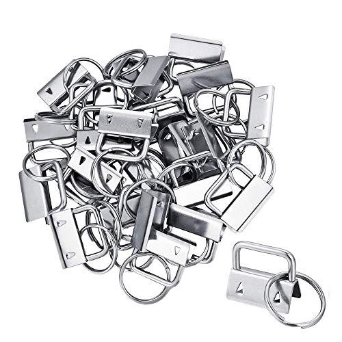 DELSEN 40 Stück 2,5 cm Breit Schlüsselanhänger Hardware Armband mit Schlüsselringen