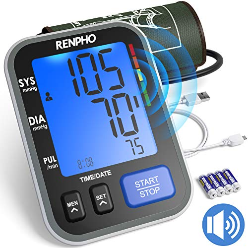 Purchase RENPHO Blood Pressure Monitor, Accurate Automatic Upper Arm BP Machine with Large Cuff 8.7-...