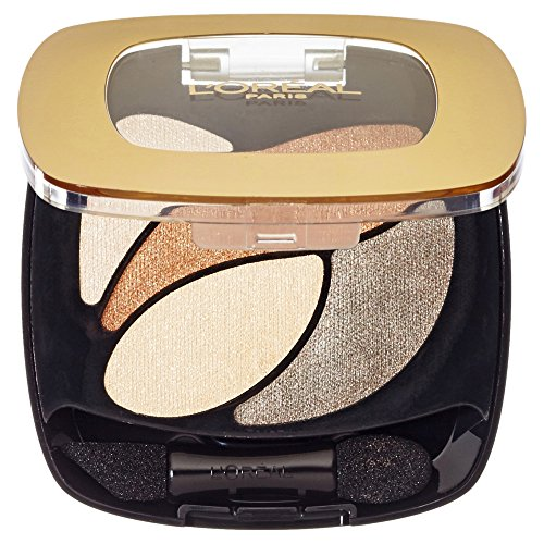 L'Oréal Paris Color Riche Quads Eyeshadow, E1 Beige Trench - Lidschatten Palette für ein intensives, sinnliches Farbergebnis - 1er Pack (1 x 2,5g)