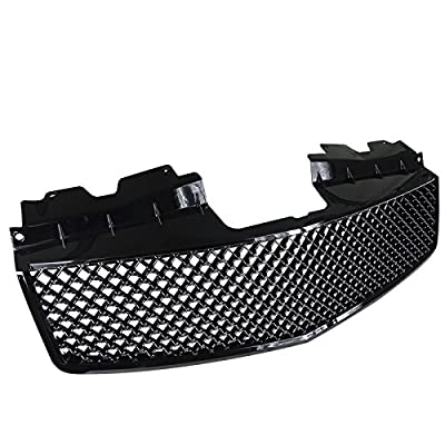 Spec-D Tuning Front Mesh Grill Hood Grille Glossy Black for 2003-2007 Cadillac Cts/Cts V