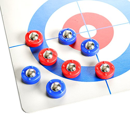 TORPSPORTS Mini Shuffleboard pucks/Free sliding bead 8pcs per set Red/Blue