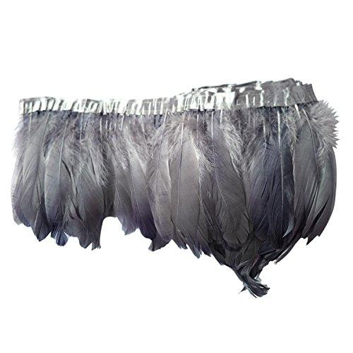 2 yardas de pluma de ganso raya recortar 6-8'ancho DIY mantón encogiéndose de hombros vestido de...