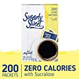 SUGARLY SWEET Zero Calorie Sweetener Packets with Sucralose, Sugar Substitute, Sugar Alternative,...