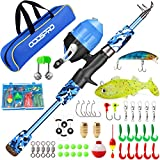 ODDSPRO Kids Fishing Pole, Portable Telescopic...