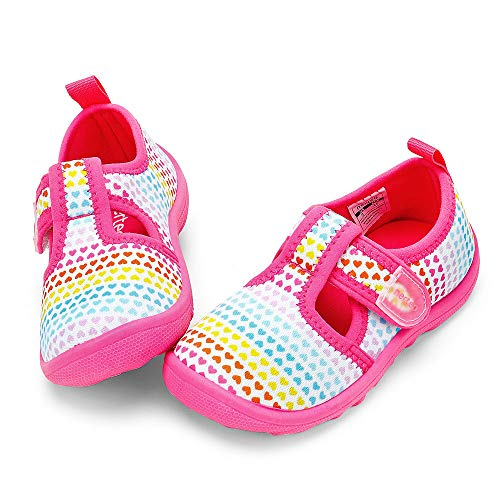 nerteo Toddler Sneakers Baby Girls Beach Sandals for Summer,Pool,Beach Colorfull/Love/Pink US 10 Toddler