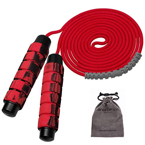 Yuccer Cuerda de Saltar de Velocidad, Ajustable 3M Cuerda para Saltar con Dos Bloques de Hierro de 80 g para Ejercicio, Pérdida de Peso, Entrenamiento de Resistencia, Cardio, Ejercicio de Salto