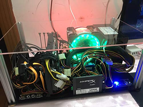 【BWH】PCオープンフレーム 透明 モッドベーススタンド PCケース DIY ケースブラケット ATX