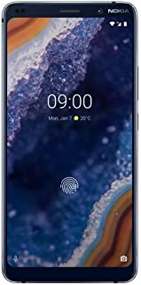 "Nokia 9 PureView - Android 9.0 Pie - 128 GB - Single Sim Unlocked Smartphone (at&T/T-Mobile/Metropcs/Cricket/H2O) - 5.99"" QHD+ Screen - Qi Wireless Charging - Midnight Blue - U.S. Warranty"