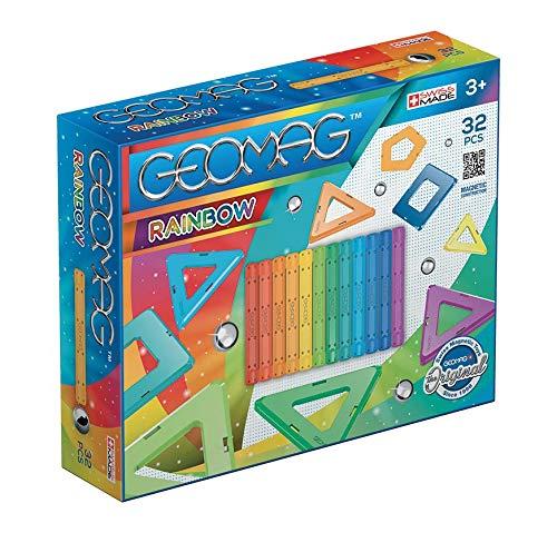 Geomag 00370 - Rainbow 32 Teile, Konstruktionsspielzeug, mehrfarbig