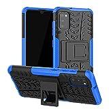 Asdsinfor Schutzhülle für Samsung Galaxy A41, Reifen-Muster, robust, robust, mit Ständer, stoßdämpfend, abnehmbar, JX:Blau