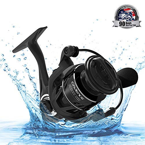 Cadence Spinning Reel,CS5 Pro Ultralight Carbon Fiber Fishing Reel with 9 Durable & Corrosion Resistant Bearings for Saltwater or Freshwater,Super Smooth Powerful Reel with 36 LBs Max Drag(CS5-2000)