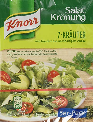 Knorr Salatkrönung 7 Kräuter Dressing, 14er Pack (14x5x 8g)