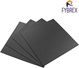 FYBREX Set of 4 Black Square ABS Sheets 12
