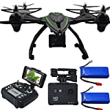 Blomiky Large Size 506HG 12.0MP Full-HD 1080P RC Quadcopter Drone with 12.0MP Camera Altitude Hold Headless Helicopter Extra 2 Battery 506HG