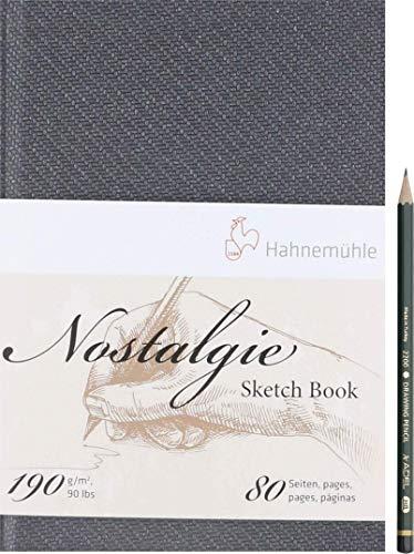 Hahnemühle Artservice-Tube Nostalgie Skizzenbuch 190gr./m² 80 Seiten inkl. Bleistift HBHochformat Querformat Portrait Landscape (A4 Hochformat)