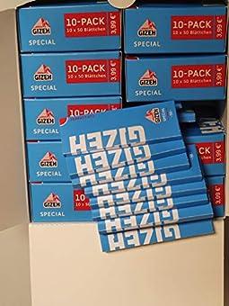 GIZEH Special Blau - Kurzes Papier - 100 Heftchen a 50 Blättchen - Zellulose Packungage die Größe: 8.4 L x 13.8 H x 12.6 W (centimeters)