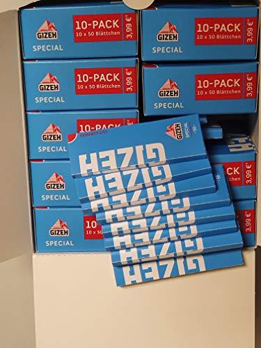Gizeh Special blau kurzes Papier / Paper 100 Heftchen a 50 Blatt = 5000 Blatt