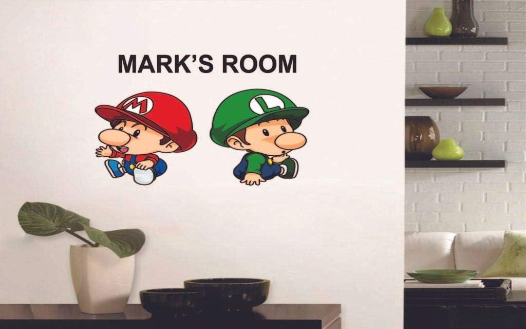 LUIGI RUN Super Mario Bros Decal Removable WALL STICKER Home Decor Art Mural