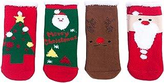 Kanggest., Kanggest. 3Pares Calcetines de Navidad niños Calcetines Invierno Bebe Lindos Calcetines Ocasionales Lindos De La Navidad De Los Niños del Bebé de Calcetines(1~3 años)