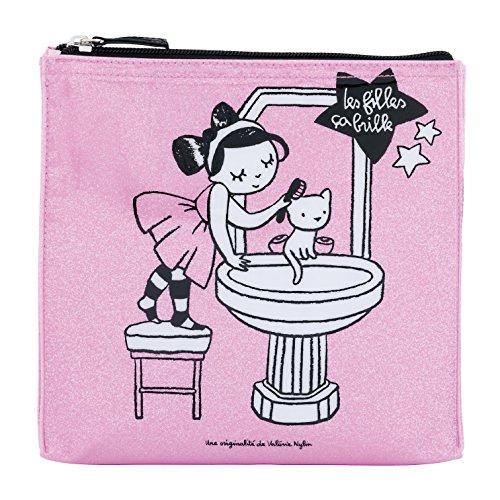 Trousse de toilette JADE Miroir - rose - Derrière la porte