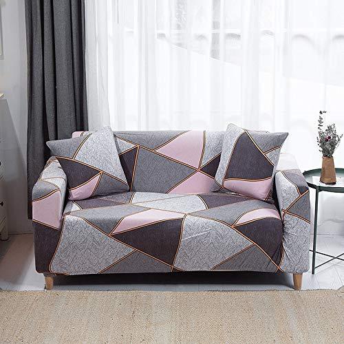 WXQY Geometry Plaid Fundas elásticas Fundas elásticas para sofá protección para Mascotas Funda para sofá con Esquina en Forma de L Funda para sofá con Todo Incluido A14 1 Plaza
