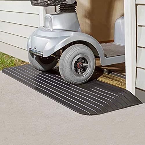 WXJ 5-10 cm Hohe Stufenrampe Naturkautschuk-Schwellenrampentür Für Manuelle Rollstühle, Elektrische Rollstühle, Motorroller, Trolleys, Rollerlast 1000 Kg