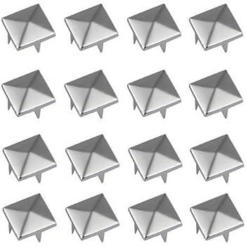 Vikeva 100 12mm Pyramid Studs Spots Punk Rock Nailheads Spikes for Bag Shoes Bracelet