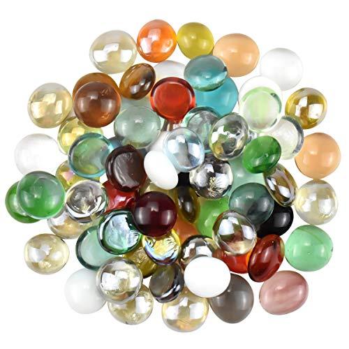 Jinlaili Pietre Decorative, 70 Pz Mosaico di Vetro Decorativo, Ciottoli di Vetro, Pietre di Vetro Colorate per Vasi, Perline per Giardino e Acquario