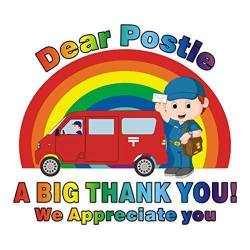 Iwinna 5.3'' * 5.9'' Dear Postle - A Big Thank You We Appreciate You - Rainbow Stickers, Shop & Home Window Car Refrigerator PVC Sticker