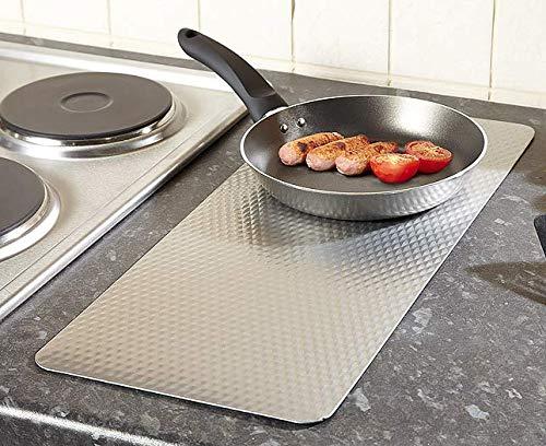 Unibos Heat Resistant Metallic Kitchen Trivet Mat Pan Hot Pot Holder Non Slip Grey