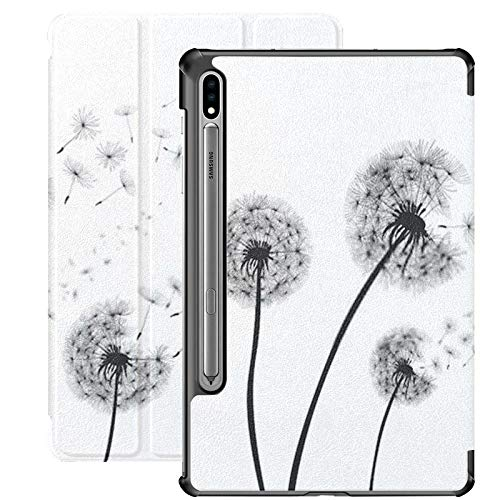 Galaxy Tab S7 Case Slim Lightweight Stand Case Shell Cover para Samsung Galaxy Tab S7 Tablet 11 Pulgadas Sm-t870 Sm-t875 Sm-t878 2020 Release, Abstract Dandelion Dandelion Flying Seeds Vector