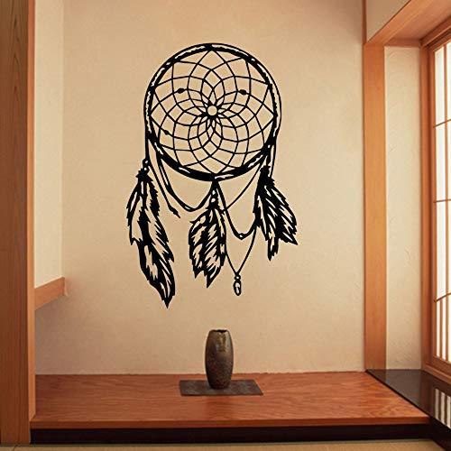 YuanMinglu Buddha Mandala Lotus Wandaufkleber Feder Aufkleber Wohnkultur Schlafzimmer Dekoration Tapete Wandbild Wohnzimmer 64,5X99 cm