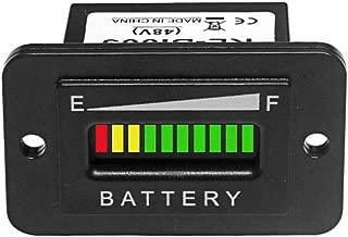 48V Volt LED Battery Indicator- Meter Gauge for Lead-acid Battery Motorcycle Golf Cart Car Jet Ski EZGO Club Car Yamaha Rectangle